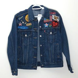 Levis Jean Jacket Patchwork BRB California S NWT